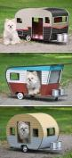 Pet Campers...how cute they are! I'll need a smaller dog.: Doggie Camper, Dogs, Trailers, Pets, Dog Houses, Pet Camper, Line Design, Straight Lines