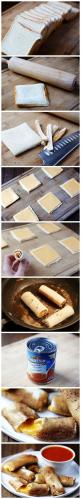 Quick and Easy Cheese Sticks | 40 Creative Food Hacks That Will Change The Way You Cook: Recipe, Food Idea, Grilled Cheese Rolls, Food Drink, Grilled Cheeses, Cheese Stick