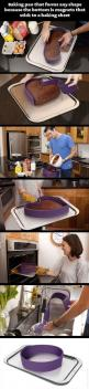 Baking pan that can mold to any shape