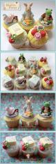 Beatrice Potter Cupcakes - These are amazing...more like a work of art really!!!: Work, Amazing Cupcakes, Childrens Cupcakes, Art Theme Cupcakes, Art Cupcakes, Beatrix Potter Cake, Potter Cupcakes, Amazing Cakes And Cupcakes, Children Cupcakes