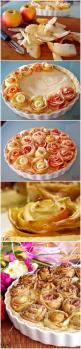 How To Make Apple pie with roses | Food Blog: Creative Thanksgiving Desserts, Apple Pie, Desserts Dessertrecipes, Creative Thanksgiving Recipes, Cake Desserts, Food Blog, Dessertrecipes Yummy, Creative Thanksgiving Food