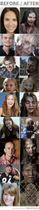 Make-up of The Walking Dead: Thewalkingdead, Make Up, The Walking Dead, Makeup, Dead S Zombies, Deads Zombies, Walking Dead Zombies