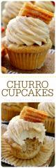 These Churro Cupcakes are bursting with cinnamon sugary goodness in every bite! Perfect for Cinco de Mayo or any occasion that calls for a moist, sweet and fluffy cinnamon-spiced cupcake topped with a crispy churro!: Cupcakes Cake, Yummy Food, Recipes Cup