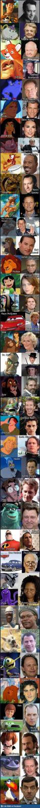Who voiced who---Disney characters    :O