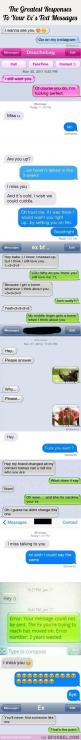11 Of The Greatest Responses To Your Ex's Text Messages…: Funny Texts, Funny Love Texts, Ex S Text, Funny Ex Texts, Funny Stuff, Funny Ex Text Messages, Funny Message