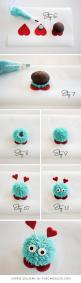 DIY Love Bug Cupcakes for Valentine's Day | Step by Step Tutorial | by Carrie Sellman for TheCakeBlog.com: Cupcakes Cake, Cookie Monster Cupcake, Valentine Cupcake, Cup Cake, Cake Pop, Bug Cupcake, Valentines Cupcake