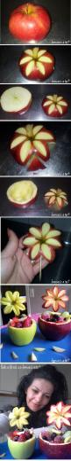 funny food - lustiges essen für gross und klein creativ zubereitet: Idea, Food Decoration, Apples Fruit, Fruit Display