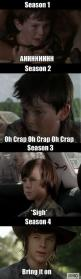 The evolution of Carl. From scared little boy to scary pre-teen. The Walking Dead.: Carl From Walking Dead, Funny, Daryl, Chandlerriggs, Chandler Riggs ️, Twd, Walkingdead