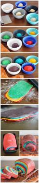 Can you imagine how much fun kids would have if they took sandwhiches to school for lunch on this? Rainbow Bread: Rainbow Bread, Rainbowbread, Recipe, School, Fun Kid Lunches, Fun Kids Lunch Ideas, Kids Vegetarian Lunch, Food Coloring