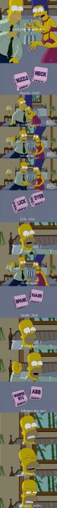 Homer and Marge's sexy time...Poor Homer lol.: Spank Hair, Marge S Sexy, Funny Pictures, Sexy Time, Simpsons Funny, Funny Stuff, Humor, Snuggle Dice