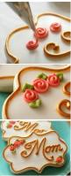 How to pipe simple swirl roses on cookies (SweetSugarBelle). Great technique. Gorgeous cookie.