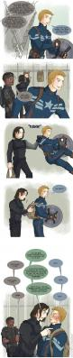 Protective team mates are protective by johanirae on deviantART: Marvel Dc, Captain America, Big Brother, Marvel Ous, Fandom, Friend