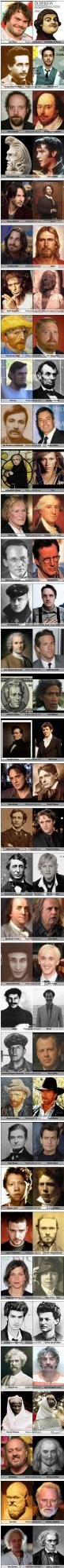 Funny celebrities historical look-alikes: Twin, Giggle, Mindblown, Christian Bale, So Funny