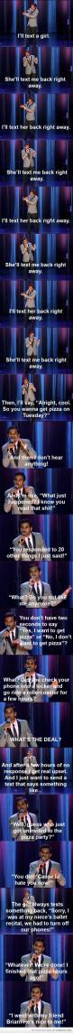 lol I know I've had this conversation with myself about people before!: He S Nice, Giggle, My Life, Funny Stuff, So True, Aziz Ansari, So Funny, Pizza Party