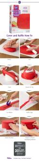 Our NEW Decorator Preferred Fondant has a rich and creamy vanilla flavor, is easy to roll and decorate, has a smooth texture and is available in a variety of vibrant colors!: Easy Cake Decoration, Diy Cake, Cake Ruffle, Cake Tutorial, Ruffle Fondant Cake,