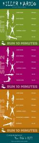 Great cardio circuit with or without the treadmill running portion! You could build up to the running level by level.: Killer Kardio, Cardio Workouts, Plyometric Workout, Killer Cardio, Health Workout, Work Outs, Exercise, Fitness Workout