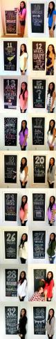 Maternity timeline using a chalkboard. Incorporating baby info, cute quotes, cravings, baby fruit size comparison, holidays & more! Weekly progress till the arrival, then show off your new addition for the last photo!! (:: Good Ideas, Pregnancy Photos