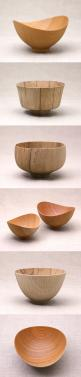 Nice shapes but too fine cut on the outside!!!  Love the shape of this #wooden #bowls: Bowls Craft, Bowls Wood, Nice Shapes, Woodturning Bowls, Wood Bowls, Turned Wooden Bowls, Wooden Turned Bowls, Bowl Shapes, Wood Turning Bowls