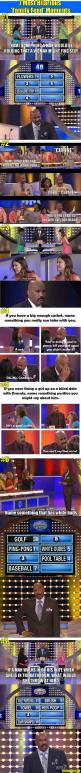7 Most Hilarious 'Family Feud' Moments. I laughed way too hard at some of these.: Steve Harvey S, Feud Moments, Familyfeud, Family Fued, Funny Stuff, Family Feud, So Funny, Hilarious Family