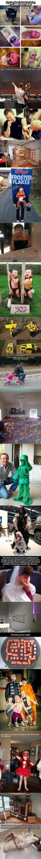 Here are some awesome and geeky parents who are doing it right.: Parenting You Re, Giggle, Awesome Parenting, Parenting Done Right, Awesome Parents, Parenting Wins, Star Wars, Geeky Parents