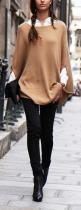 Camel and black: Camel, Fashion, Poncho, Cape, Street Style, Street Styles, Fall Outfit, Fall Winter