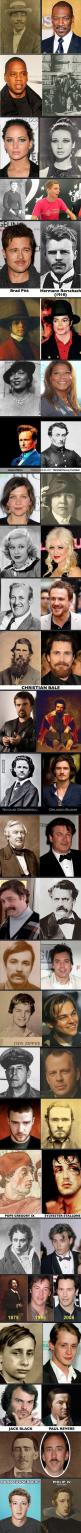 Celebrity Reincarnations?? much more celebrities Lookalikes! Amazing!! #lookalike via @9GAG #famous #look-alike: Celebrity Reincarnations Wow, 9Gag Funny Humor, Abs, Crazy, Celebrity Lookalikes, Fun Facts, Celebrities Lookalike, It S Funny