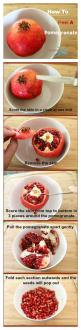 How To Peel A Pomegranate - @SoberJulie.com #whatisapomegranate: Peel Pomegranates, Fruit, Clean Eating, Stuff, Food, Recipes, Healthy, Tips