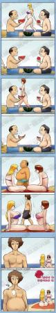 The nature of humans…: Beaches, Funny Pictures, Comic, Human Nature, Funny Stuff, Humor, Funnies