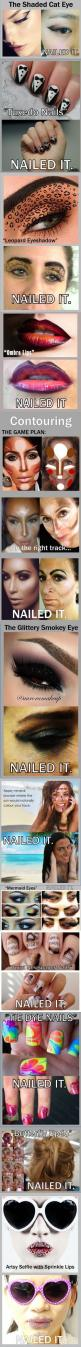 """Nailed it"" compilation ==> Make-up #inspiration.: Cat Eye, Funny Pinterest Fails, Makeup Fail, Nailed It Fails, Nailed It Humor Fails, Funny Fails, Pinterest Fails Nailed It, Funny Pintrest Fails, Nailed It Pinterest Fails"