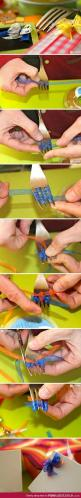 26 Interesting DIY Ideas How To Make Bows - who knew that tying bows could get so complex?: Gift, Idea, Tiny Bows, Fork Bow, Art, Card, Crafts