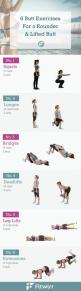 6 Simple butt exercises to a sculpted and lifted butt. #buttexercises #glutes #squats: Booty Exercise, Squat Workout, Butt Exercise, Butt Lifting Exercise, Glutes Exercise, Weight Lifting Workout, Butt Excercise, Booty Workout, Butt Workout