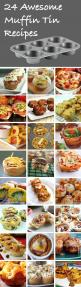 Check out this list of 24 different recipes to make in a muffin tin! Makes perfect portions to store and reheat throughout the week.: 24 Awesome, Muffin Tins, Muffin Tin Recipes, Awesome Muffin, Finger Food