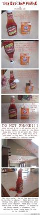 Hahaha! Yes!!! Soooo Epically mean and wonderful all at once! >:D The Ketchup Prank- great April Fools Day Prank!: Aprilfools, Fools Prank, Prank War, April Fools Day, Ketchup Prank, So Funny, Funny Pranks