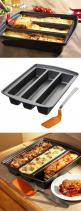 Lasagna Trio Pan // make three different types at once eg. vegetarian, classic, meat lovers. Or cook brownies with extra edges! #product_design #kitchen: Kitchen Gadgets, Cooking Gadgets, Cook Brownies, Baking Gadgets, Gadgets Kitchen, Product Design Kitc