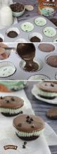 Mint Ice Cream Cookie Cups: Dreyer's Mint Chocolate Chip ice cream takes center stage in this single-serving frozen treat. Crush mint fudge cookies into muffin cups, top with a layer of ice cream and finish it off with a fudge-like frosting for a simple d