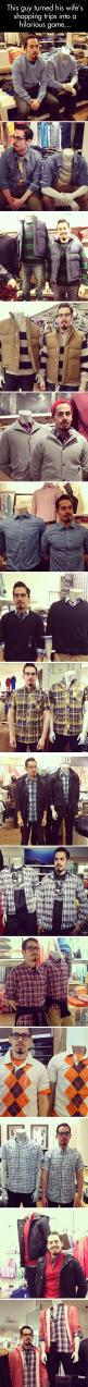This Guy Turned His Wife's Shopping Trips Into A Great Game – Imitate The Mannequin: Husband Wife, Funny Stuff, Guy Turned, So Funny, Guy S Awesome, Guys