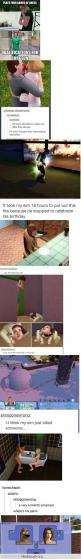 I love the sims. I've done the pie one. Its even more funny watching it.: Sims Funny, Sims Logic, At, Funny Stuff, Funnies, Sims 3, The Sims