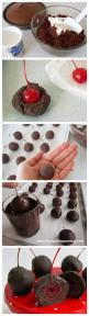 Sweet Chocolate Cherry Bombs I'd make it with chocolate frosting, and ganache on the outside...: Cake Pops Idea, Christmas Cake Ball, Chocolate Cherry Cookie, Pop Cake, Holiday Cake Ball, Chocolate Cherry Bomb, Cherry Cake Ball