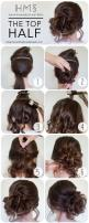 How To: The Top Half: Updo Hairstyle, Hair Updos Tutorial, Messy Bun, Hair Bun, Messy Updo, Updo Tutorial, Hair Style