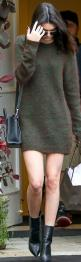 Kendall Jenner, brown sweater dress, black handbag, and leather ankle boots: Sweater Dresses, Fashion Style, Kardashian Jenner, Kendall Jenner Outfit, Kendall Jenner Style Outfits, Jenners, Street Style, Kendall Jenner Dresses, Kylie Jenner