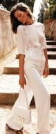 I just bought a pattern for a shirt sleeved version if that blouse. It shouldn't be too difficult to alter the pattern to make another with longer sleeves.: Summer White, Fashion, All White Outfit, Inspiration, White Hot, Style, Chic