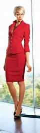 Adds panache to a suit, the color red. @Ruthlyn Hamilton Bright Carroll via Tracy Svendsen: Office, Fashion, Style, Dress, Red Suit, Red Hot