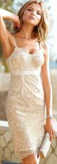 Knock his socks off when he sees you in this lovely lace empire waist body com dress!: Style, Dream Closet, Clothes, Classy Cocktail Dress, Wedding Dress, White Lace, Cream Lace Dress, Lace Dresses