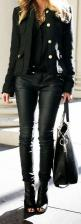 Can I have this please?!: Black Style, Fashion, Black Outfits, All Black, Black Leather, Street Style, Leather Pants, Fall Winter