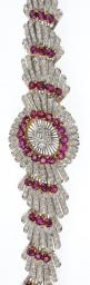 A suite of ruby and diamond jewellery