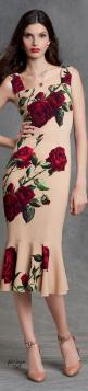 Dolce & Gabbana Winter 2016: Clothing Style, Dolce Gabbana Rose Dress, Dolce & Gabbana, Gabbana Winter, Winter 2016, Dolce And Gabbana 2016, Floral Dresses, Floral Rose