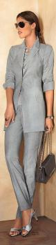 Madeleine ~ Spring Grey Pant Suit, 2015: Linen Pantsuit, Fashion Styles, Grey Fashion, Grey Pants, Gray Pants, Fashion Madeleine