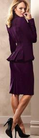 plum suit ♥✤ | Keep the Glamour | BeStayBeautiful: Purple Suits, Plum Suits, Sexy Women'S Suits, Peplum Suit, Skirt Suit, Purple Suit Women, Feminine Suits