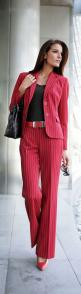 Womens fashion clothes from http://findgoodstoday.com/womensfashion: Red Pinstripe, Sexy Pantsuits, Red Color, Work Outfit, Pinstripe Red, Outfit Suited, Red Pants, Suited Style, Dressy Pants