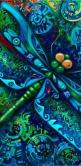 Dragonfly - great pattern for stepping stone or stained glass project: Blue Dragonfly, Dragonfly Art, Things Dragonfly, Dragonfly S, Blue Green, Green Dragonfly